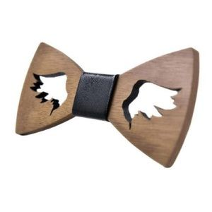 Other - Hand Carved Angle Wings Wooden Butterfly Bow Tie